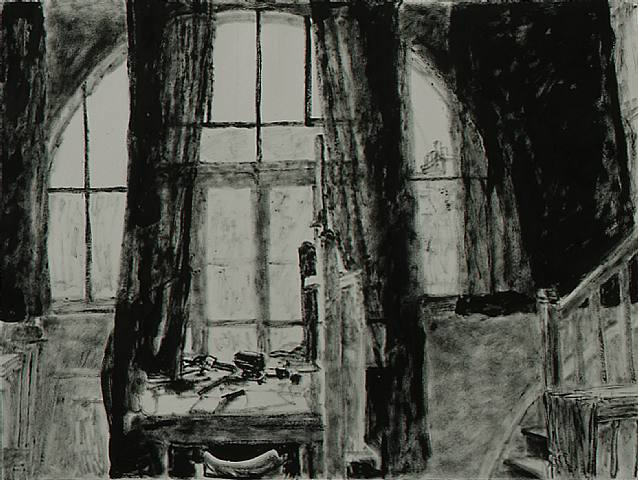 Studio Windows With Drawn Curtains