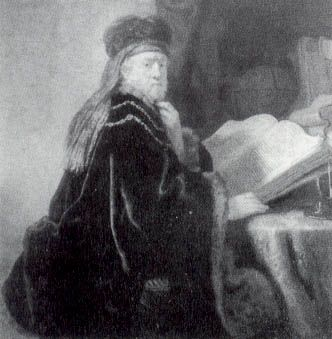 A Scholar Seated At A Desk