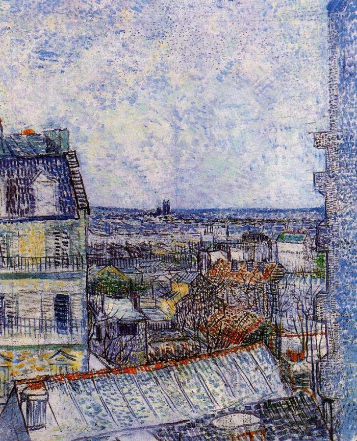 View of Paris from Vincent's Room in the Rue Lepic