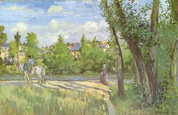 Camille Pissarro Sunlight on the Road Pontoise1874