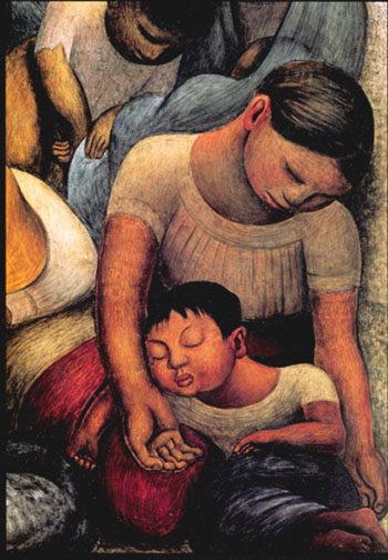Diego Rivera Mother and child Sleeping