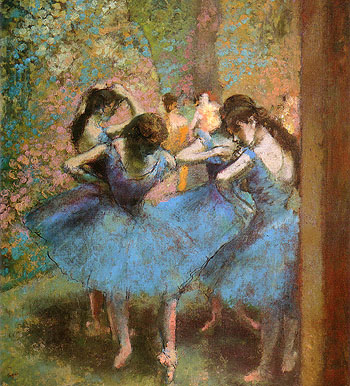 Edgar Degas Blue Dancers 1893