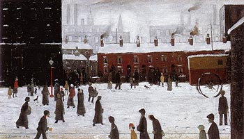 L-S-Lowry A Street Scene in the Snow 1935