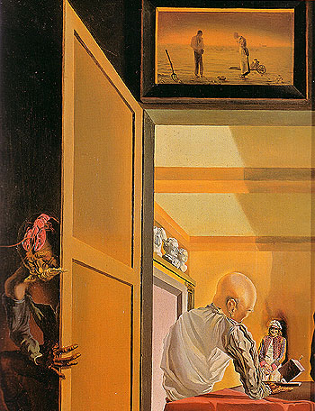 Salvador Dali Gala and the Angelus of Milet Immediately Preceding the Arrival of the Conic