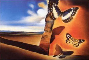 Salvador Dali Landscape with Butterflies 1956