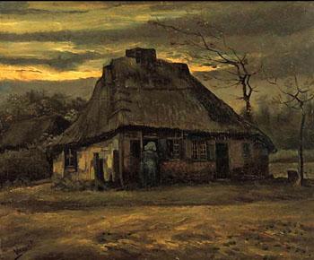 Vincent van Gogh The Cottage 1885