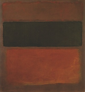 Mark Rothko No 10 Black Sienna On Dark Wine 1963