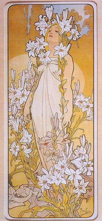 Alphonse Mucha Lily 1898