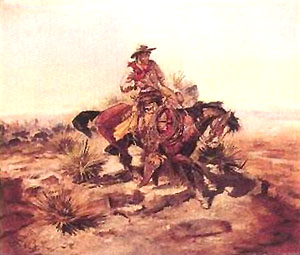 Charles M Russell Riding Line