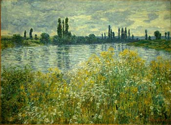 Claude Monet Banks of the Seine, V?theuil, 1880