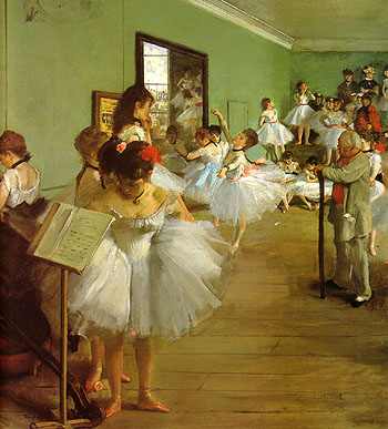 Edgar Degas The Dance Class 1874