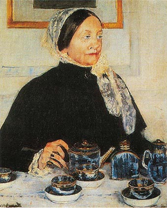 Mary Cassatt Lady at the Tea Table 1885