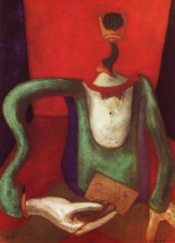 Max Ernst M Portrait, or The Letter, 1924