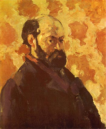 Paul Cezanne Self Portrait with a Pink Background