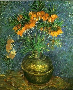 Vincent van Gogh Fritillaries in a Cooper Vase