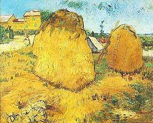 Vincent van Gogh Haystacks in Provence 1888