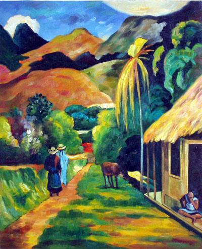 Street on Tahiti