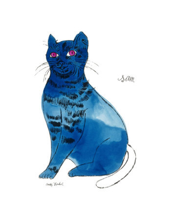 Andy warhol ,Cats-Named-Sam-Blue,pop art