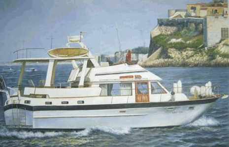 Commissioned boat oil paintings