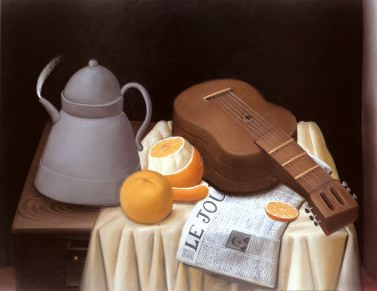 Fernando Botero still life with le journal