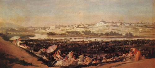 Festival at the Meadow Francisco Goya oil painting