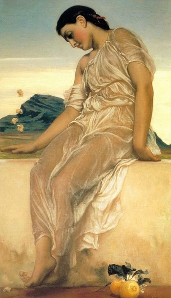 Frederic Lord Leighton Girl portrait oil painting
