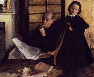 Henri Degas and His Neice, Lucie Degas oil painting reproduction