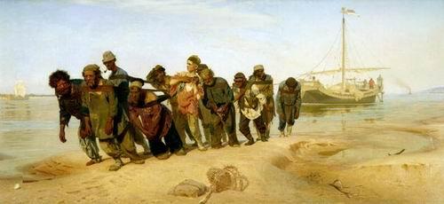 Ilya Repin Volga Bargemen
