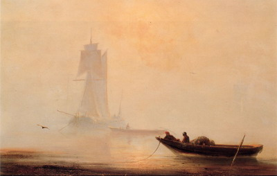 Ivan Aivazovsky Fishing Boats In A Harbor painting reproduction