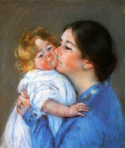 Mary Cassatt A Kiss For Baby Anne