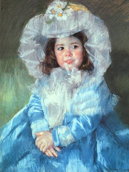 Mary Cassatt Margot in Blue oil painting reproduction