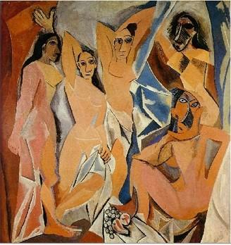 Pablo Picasso Les demoiselles d Avignon oil painting