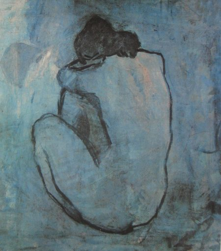 Pablo picasso nude seated on rock