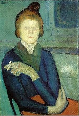 Pablo Picasso woman with a cigarette 1901
