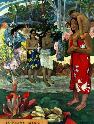 Paul Gauguin Hail Mary oil painting