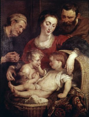 Peter Paul Rubens Holy Family with Saints Elizabeth oil painting