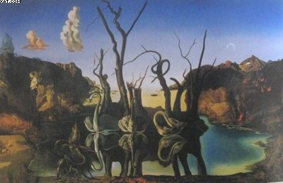 Salvador Dali Swans reflecting elephants oil painting ...