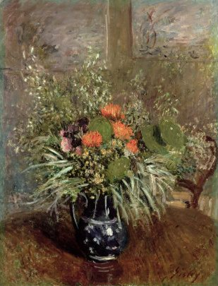 Sisley Alfred Still Life of Wild Flowers oil painting