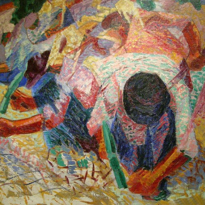 Umberto Boccioni The Street Pavers