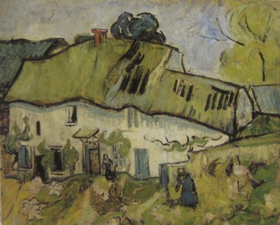 Vincent Van Gogh a house and two figures