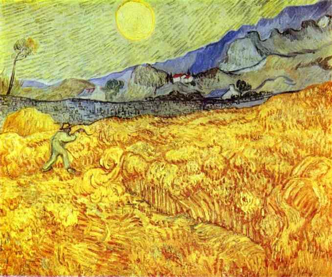 Vincent Van Gogh Reaper 1889