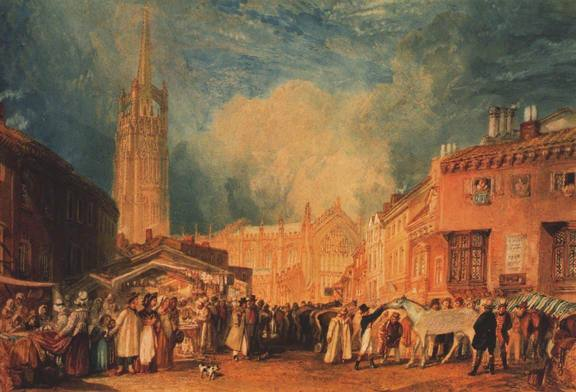 William Turner Louth, Lincolnshire oil painting
