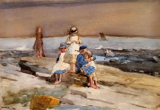 Winslow Homer Children on the Beach