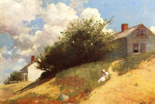 Winslow Homer Houses on a Hill