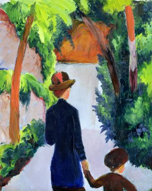 Auguste Macke Mother and Child in the Park