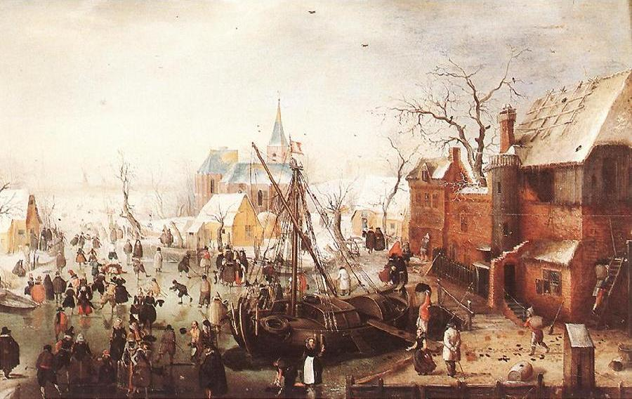 Winter Scene at Yselmuiden hhh