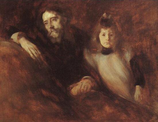 Alphonse Daudet and his Daughter