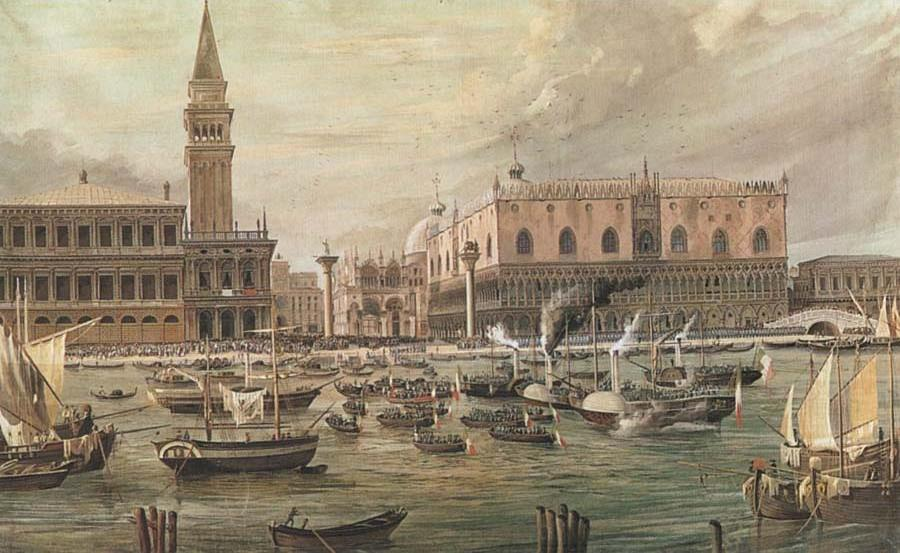 The Arrival in Venice of Napoleon-s Troops