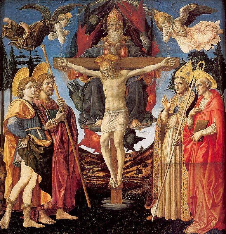 The Trinity and Four Saints