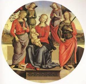 The Virgin and child Surrounded by Two Angels (mk05)